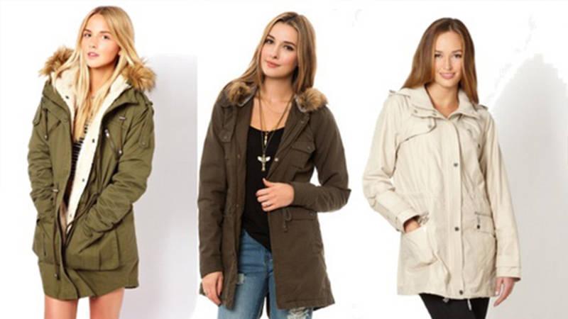 Женские осенние куртки парки