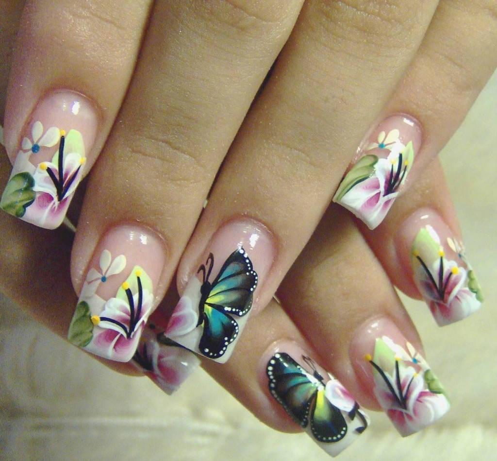 Дизайн для ногтей бабочкой