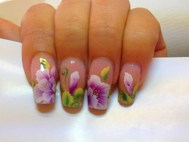 Цветы на ногтях пошаговое фото