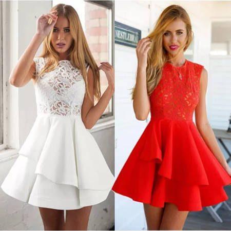 Короткое вечернее платья