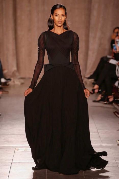 Черные платья в пол