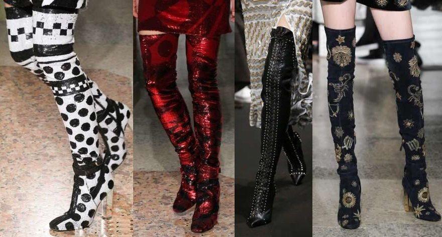 Модные сапоги осень зима 2016-2017 фото женские