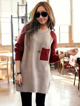 длинные женские свитера фото