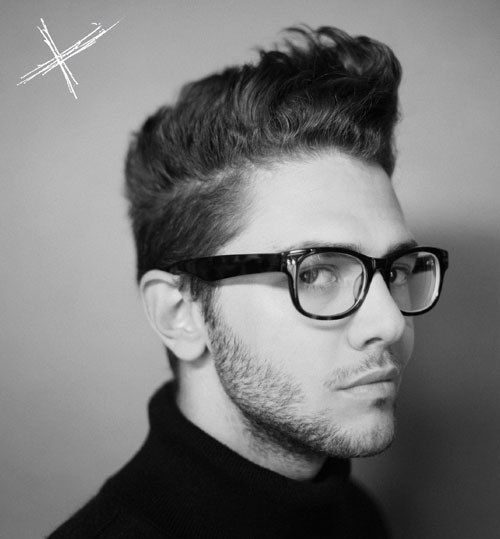 Мужские прически с очками