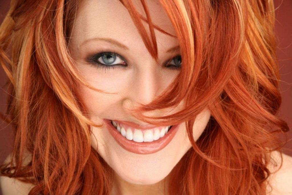 Покраска волос в рыжий цвет