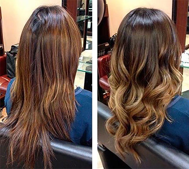 Легкое мелирование на русые волосы фото до и после