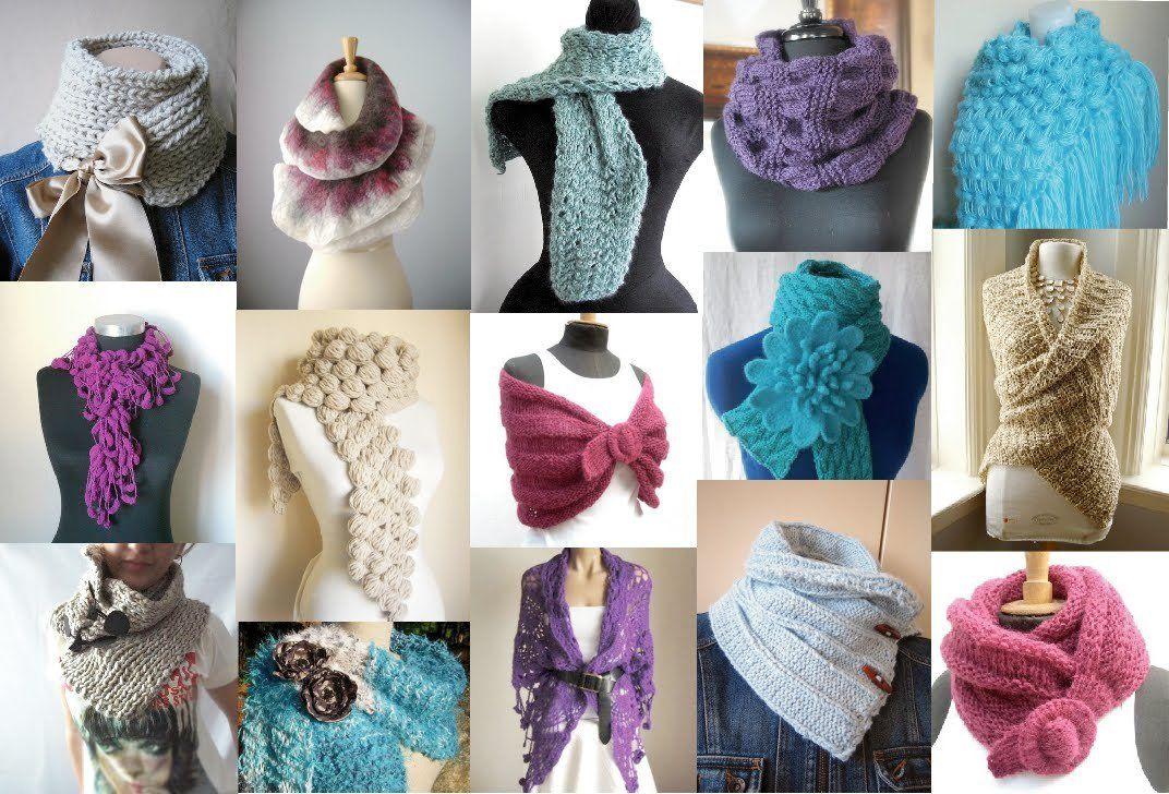 Модные вязаные шарфы