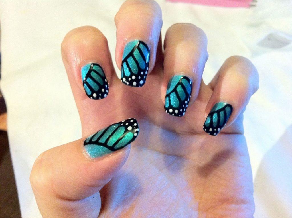 на рисунки ногтях и шеллак дизайн