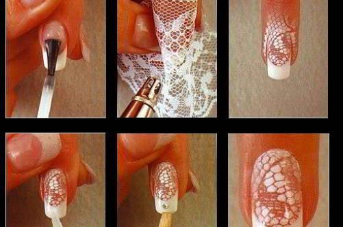 Как сделать ногти с кружевом