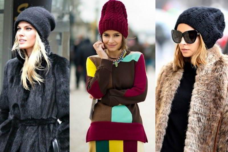 Модные связаны шапки