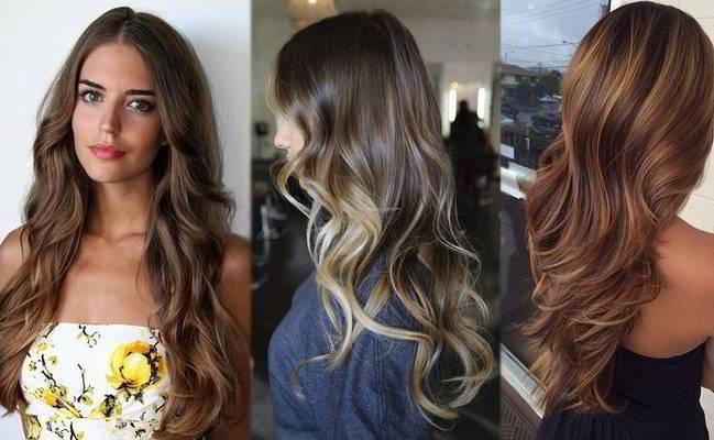 Красивые цвета для волос для брюнеток