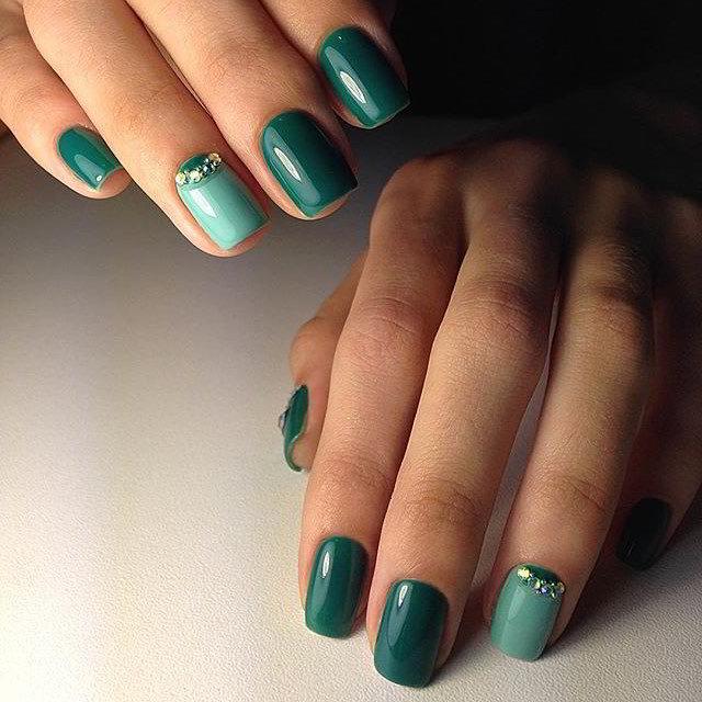 Маникюр На Короткие Ногти Простой Дизайн