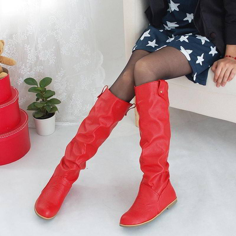 Красные сапоги с чем носить фото