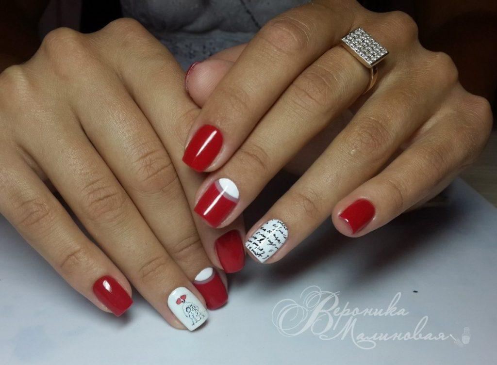 Малиновые ногти гель лак