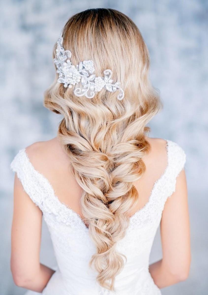 Cвадебные прически на длинные волосы 2017
