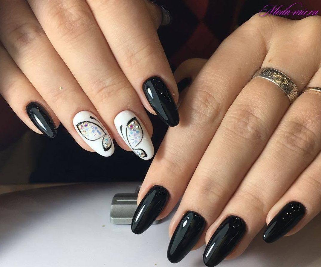 Черно-белый маникюр - 84 50