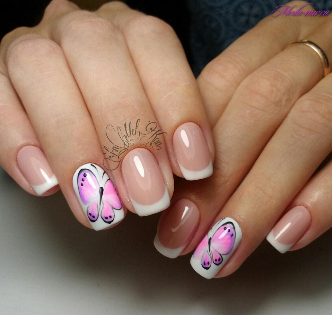 Дизайн ногтей 2017 бабочки фото