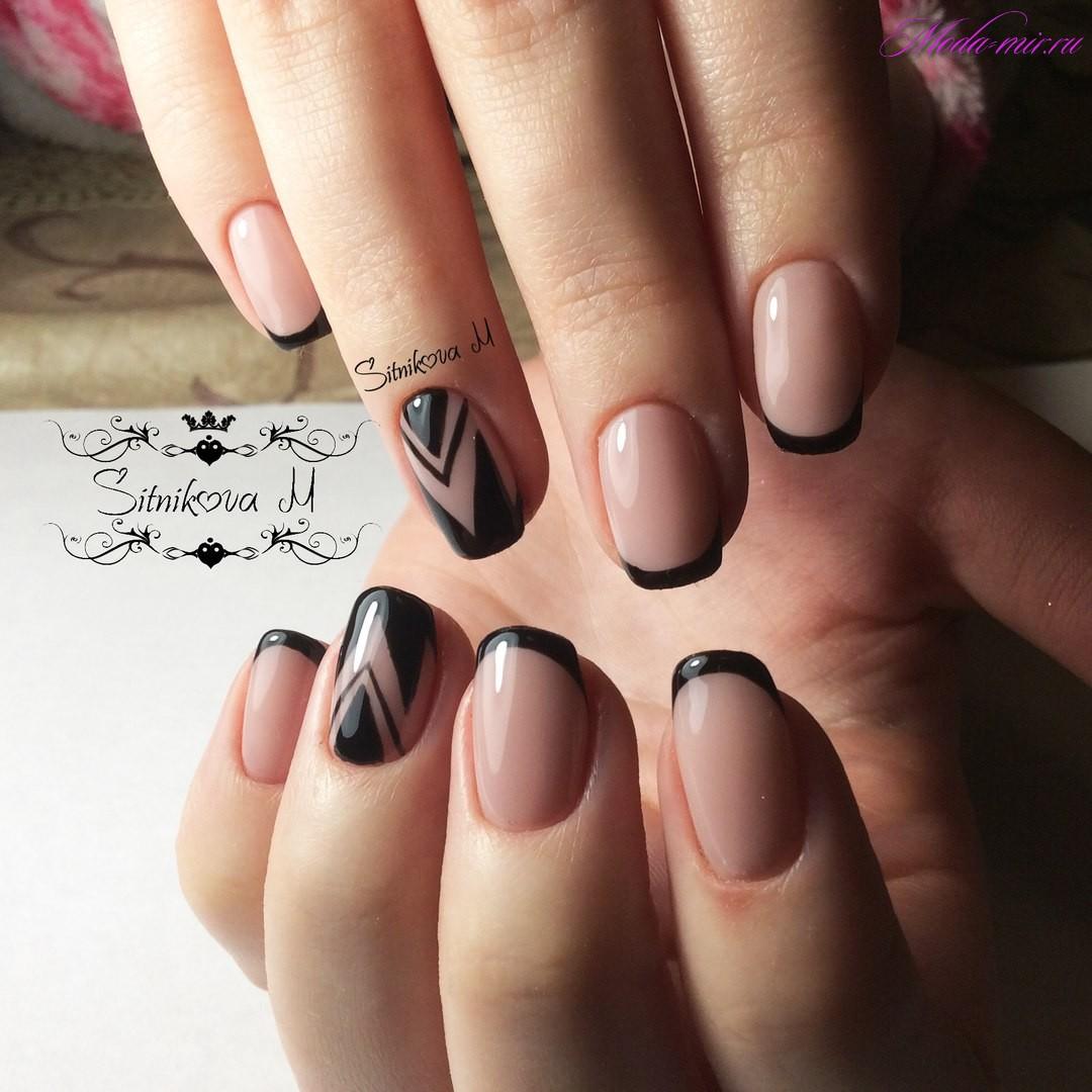 дизайн ногтей фото новинки френч