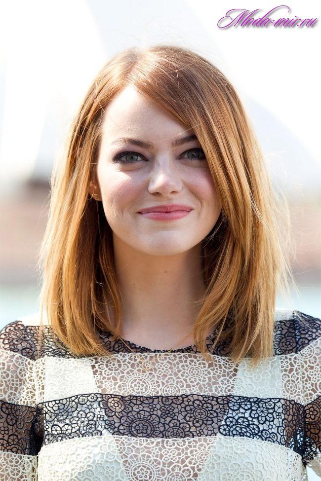 Современные стрижки для девушек на средние волосы фото