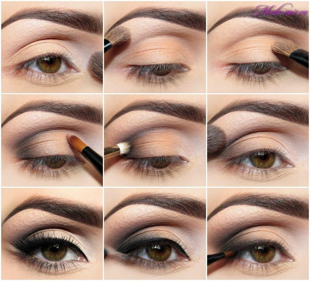 Вечерние макияж для карих глаз