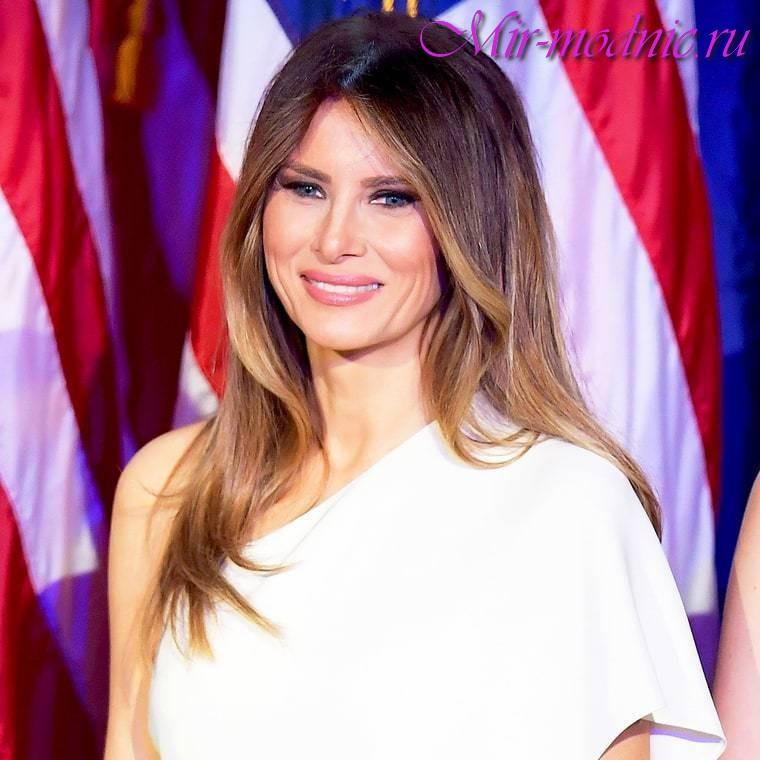 Мелания Трамп волосы
