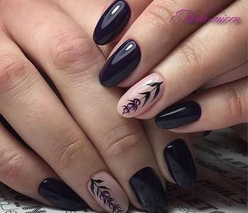 осень ногти фото