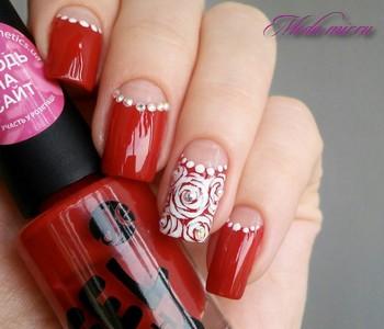 Красный дизайн ногтей 2018 фото