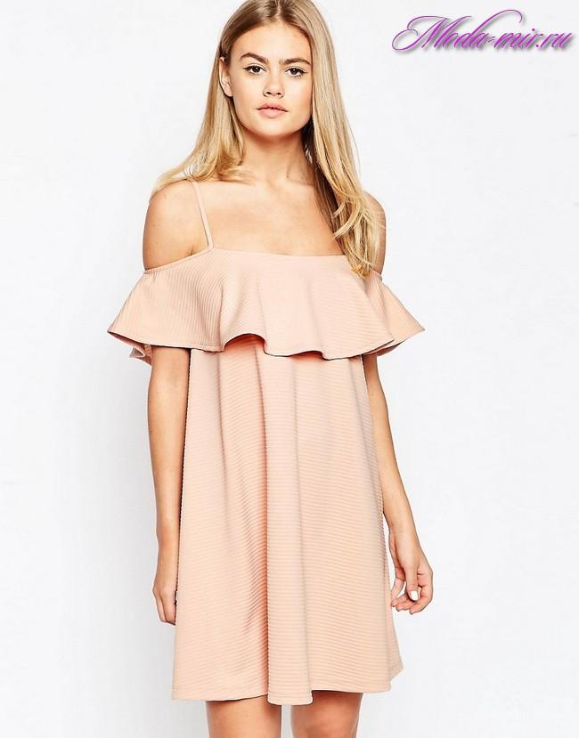 Летние платья с открытыми плечами 2017