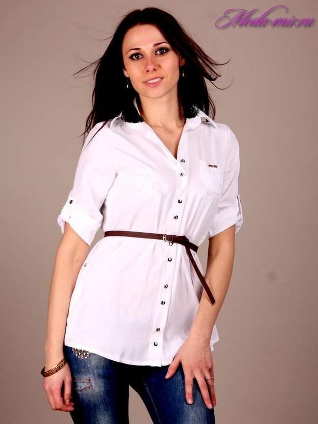 C чем носить удлиненные рубашки