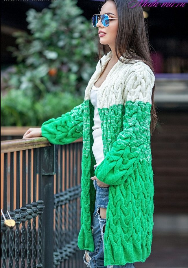 Вязаные кардиганы 2017 года модные тенденции фото