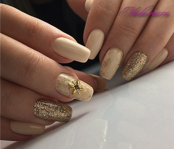 Зимний дизайн ногтей 2018