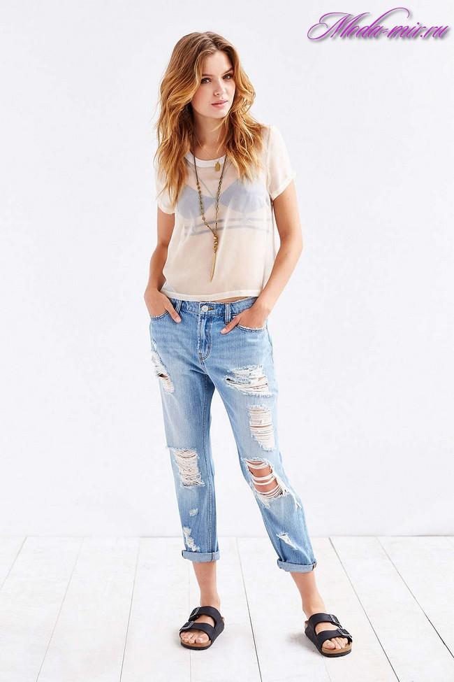 Бойфренды джинсы женские с чем носить фото 2017