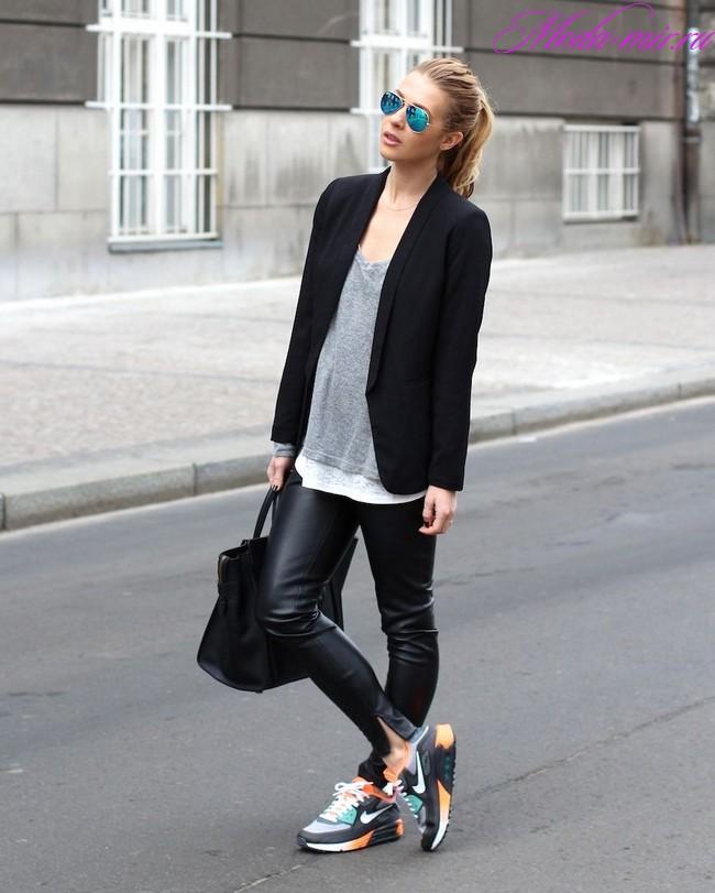 Брюки с кроссовками как носить