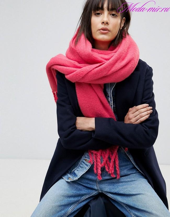 Шарфы 2018 года модные тенденции фото
