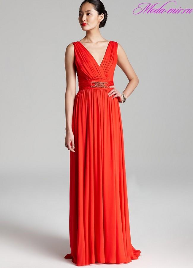 Вечерние платья в пол 2018