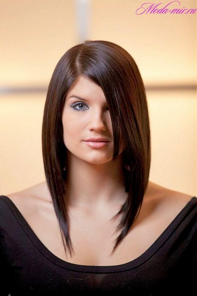 Стрижки на длинные волосы 2018 женские с челкой