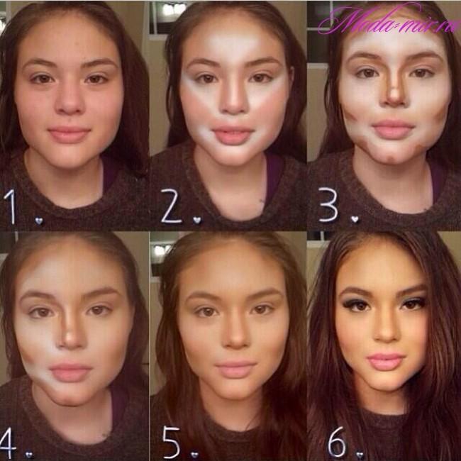 Как правильно делать контурирование лица