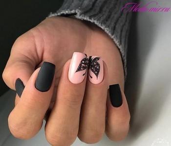 Дизайн черных ногтей 2018 фото новинки