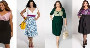Платья миди для полных женщин