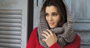 Как правильно носить шарф хомут