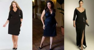 Платья для полных девушек: стильные молодежные