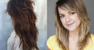 Градуированный каскад на средние волосы: фото