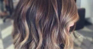 Сложное окрашивание на темные волосы каре