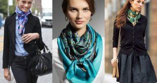 Красиво завязать платок на шее пошагово: фото